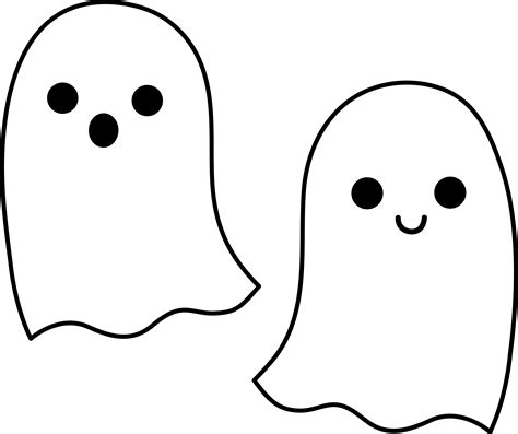 cute ghost coloring page cute simple halloween ghosts free clip art