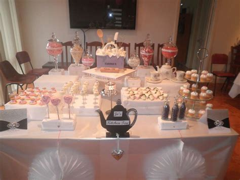 kitchen tea ideas themes pink and purple and dessert buffet bridal wedding