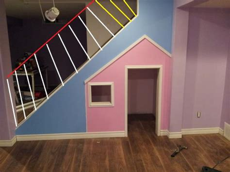 How To Build A Banister On A Staircase Basement Hand Railing Half Open Wall Doityourself Com