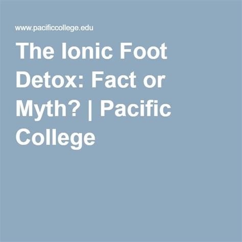 Is Ionic Foot Detox Safe by Best 25 Foot Detox Ideas On