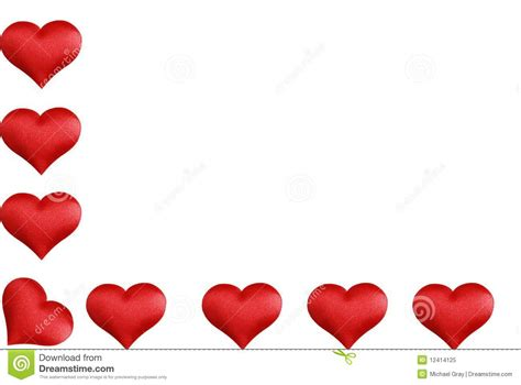 heart shaped l l shaped valentines heart border stock image image of