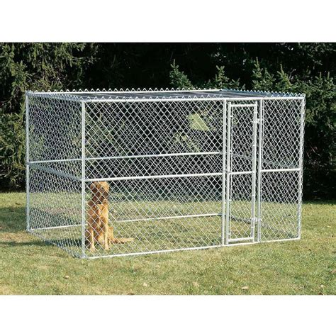 outdoor kennel walmart lucky weatherguard 10 w x 10 l kennel frame and cover set walmart