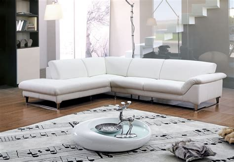 White Living Room Decor Leather Sectional Sleeper Sofa And Living Room Ideas With White Leather Sofa