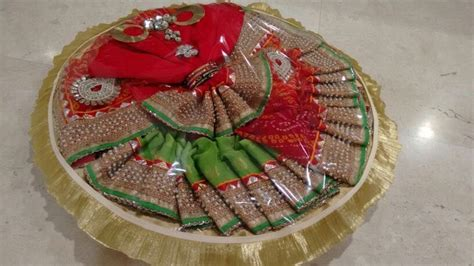 Handmade Saree Packing Trays - trousseau packing ideas for wedding search