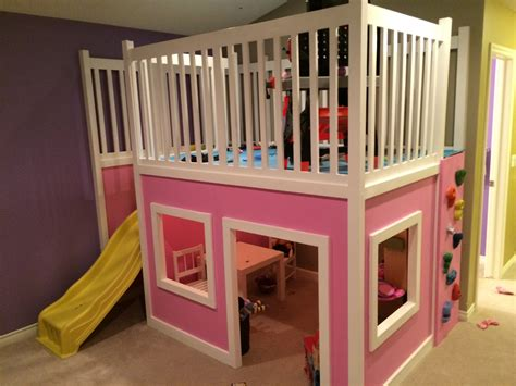 playhouse loft bed ana white playhouse loft bed diy projects