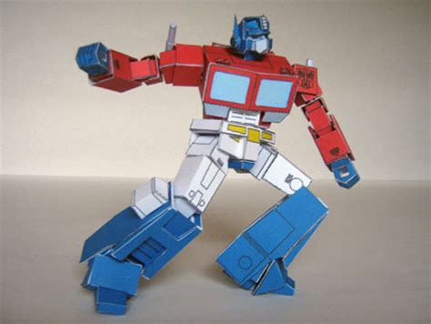 Papercraft Transformers Optimus Prime - paper model transformers g1 optimus prime papercraft4u