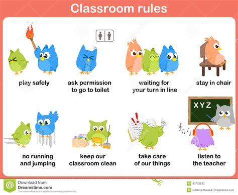 decorar traducido al ingles reglas de la sala de clase para los ni 241 os ilustraci 243 n del