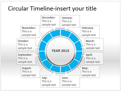 circular calendar template best circular diagrams templates for presentations