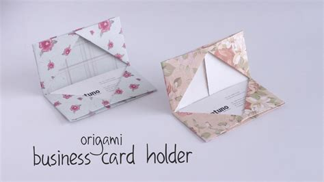 how to make business card holder diy business card holder