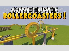 Minecraft Mods - ROLLERCOASTERS MOD! (Customize, Build ... Mods For Minecraft
