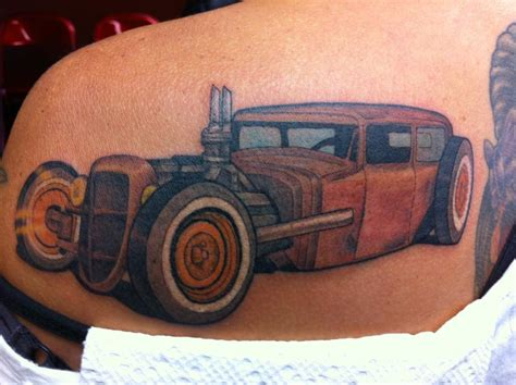 rat rod by wade rogers tattoos