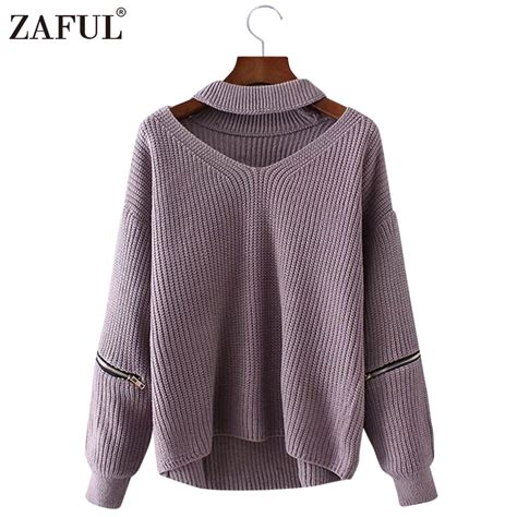 knit garments buyer address zaful 2017 new autumn sweaters pullovers v neck