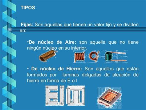 tipos de inductor o bobina bobinas o inductores