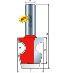 Router Bull freud 85 605 1 1 4 quot bull nose router bit hermance