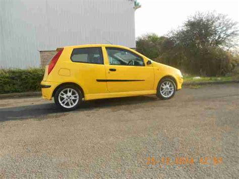 yellow fiat punto fiat 2002 punto sporting 16v yellow car for sale