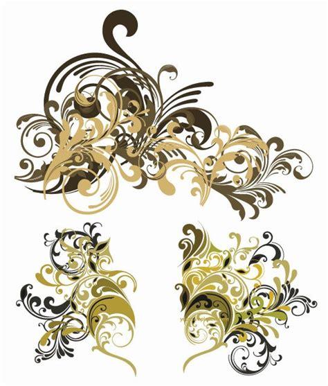 gold vintage design elements vector vector vintage floral design elements free vector