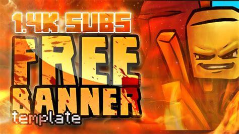 free minecraft youtube banner template 1 minecraftrocket