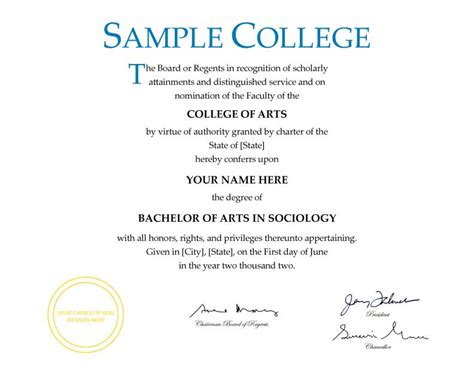 college degree certificate templates nn