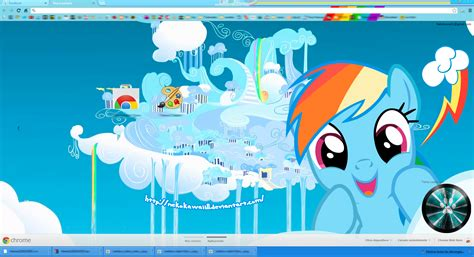 princess themes for google chrome updated rainbow dash google chrome theme by nekokawaii11