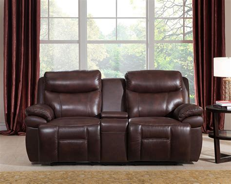 Real Leather Sofa Sets Summerlands Powered 3pc Reclining Sofa Set In Genuine Brown Leather