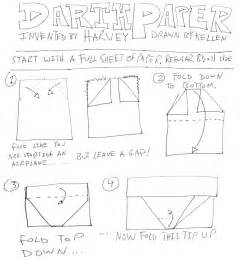 How To Fold Darth Paper Step By Step - origami yoda ii darth paper strikes back folding