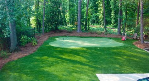 backyard golf hole golf intelliturf