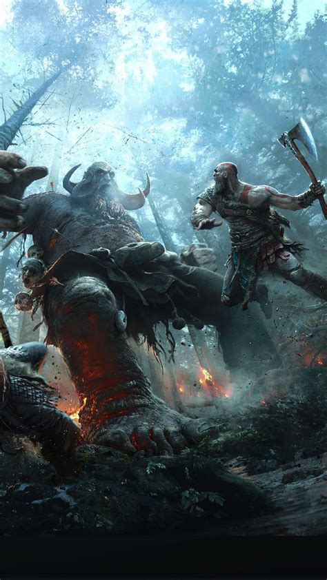 kratos god  war android wallpapers wallpaper cave