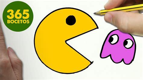imágenes kawaii fáciles de hacer como dibujar un pac man kawaii paso a paso dibujos