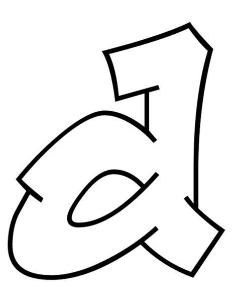 lettere in grassetto da colorare sta disegno di lettera d da colorare
