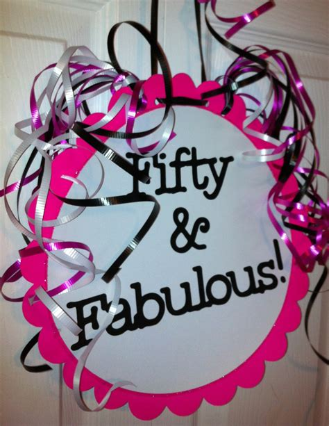 50th birthday decorations sign 50 by