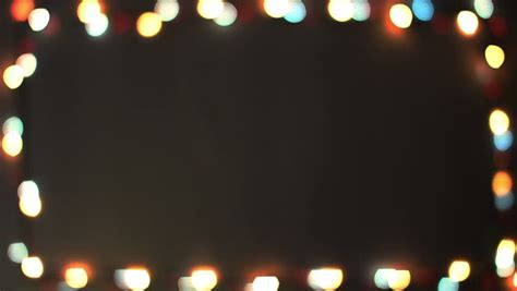 Blinking Frame With Christmas Lights Hd 1080p Loop Stock Border Lights