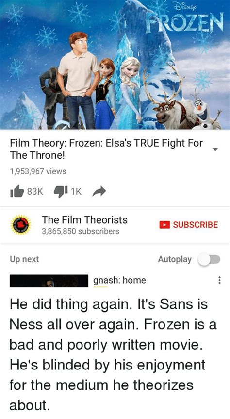 up film theory 25 best memes about film theory frozen film theory