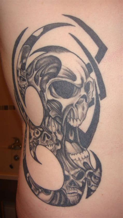 tribal skull tattoos for men 25 cool tribal skull tattoos only tribal