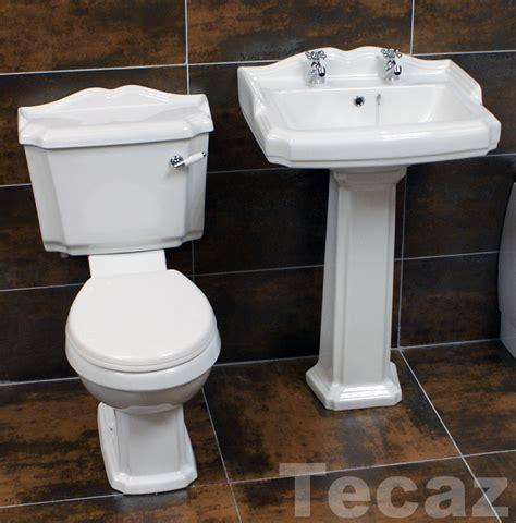 legend traditional bathroom set basin sink toilet two
