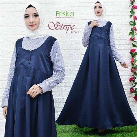 Dress Friska stripe dress by friska navy blue