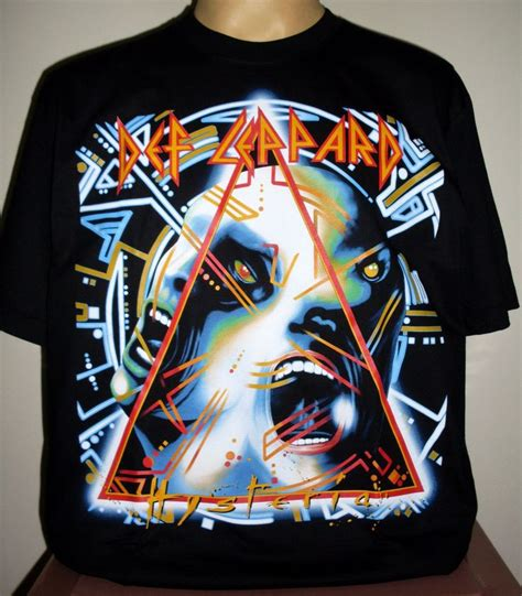 def leppard hysteria top quality t shirt size s m l xl 2xl