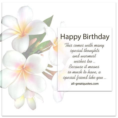 because you re my friend greeting card happy birthday happy birthday a special friend like you free birthday