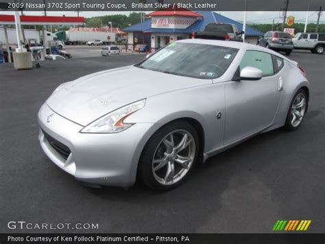 nissan 370z silver brilliant silver 2009 nissan 370z sport touring coupe
