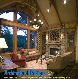 home plans with vaulted ceilings garage mud room 1500 sq ft plan w15887ge rustic hip roof 3 bed house plan e architectural design