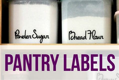 Kitchen Pantry Labels by Pantry Labels I Planners