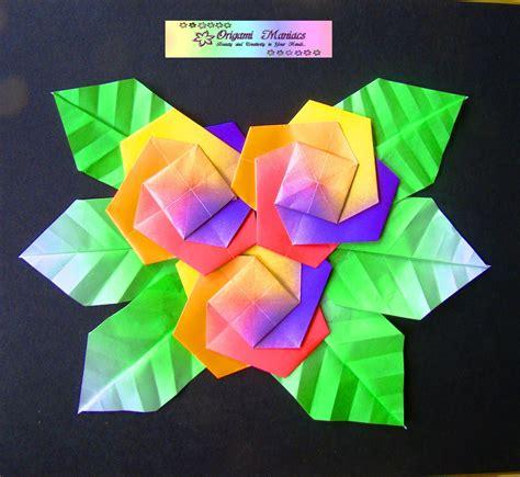 Flores De Origami - origami maniacs origami flower picture cuadro de flores