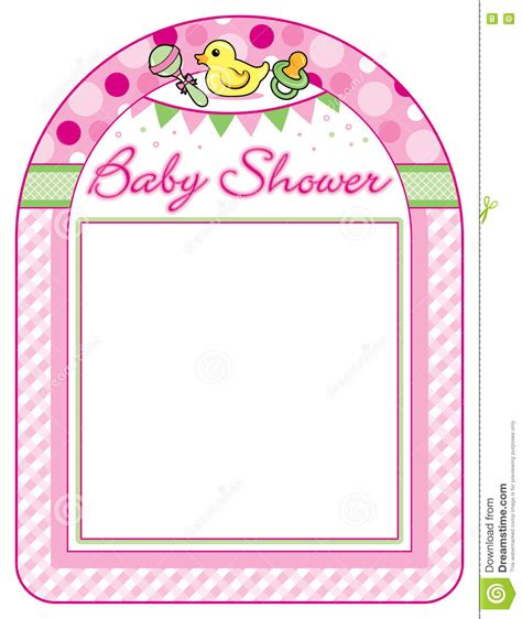 Baby Shower Printing Paper by Baby Shower Frame Print Sheet Stock Vector Image