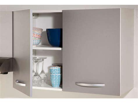 meuble haut 80 cm 2 portes spoon color coloris gris