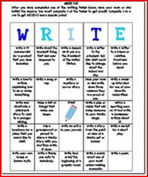 Writing Assignments For Middle School by Writing Activities For Middle School Students