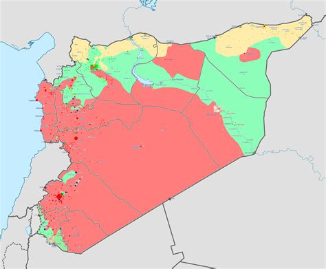 syrian war map updated one stop list of resources on syria drought