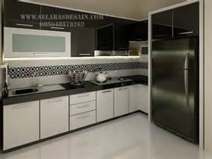 Bahan Pelapis Kitchen Set Desain Kitchen Set Elegan Dengan Nuansa Hitam Putih