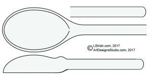 Wood Carving A Basic Wooden Spoon Lsirish Com Wooden Spatula Template