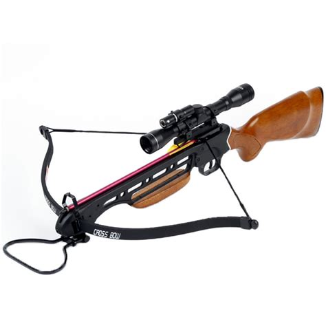 Cross Bow 150 lb wood crossbow archery bow 4x20 scope 12