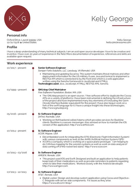 software engineer resume example resume examples and software