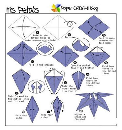 Easy Origami Flower Step By Step - origami lights up cycle